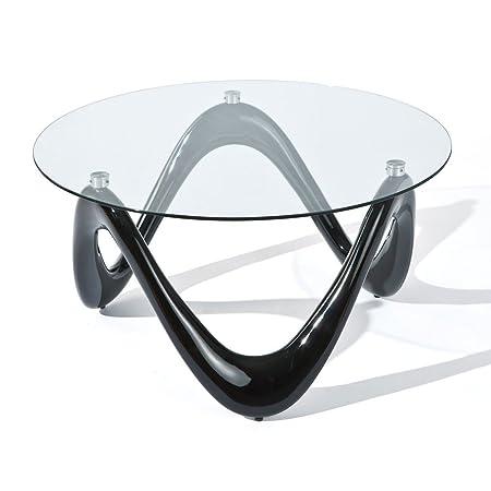 Couchtisch Tisch Möbel Wohnzimmertisch Fiberglas Schwarz Glas 8 Mm