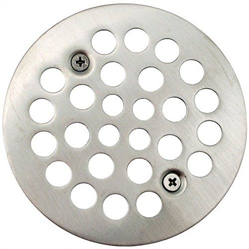 Jones Stephens Brushed Nickel 4-1/4 Strainer with Screws for Fiberglass Shower Stall- Pack of 5