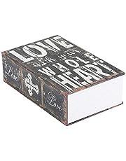 Fishlor Omleiding Boek Veilig met 3 Combinatieslot, Creative Book Safe Box, 7,1 * 4,5 * 2,1 inch Digitale Secret Opbergkoffer voor Geld Sieraden Collectie (Liefde)