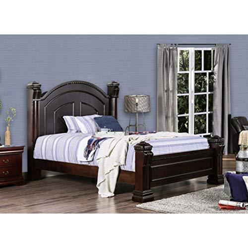 Furniture of America Tasine Cherry Four Poster Bed California King ()