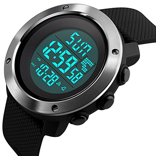 MODIWEN Fashion Couple Outdoor Sports Wrist Watches with LED Electronic Military Watch Clock