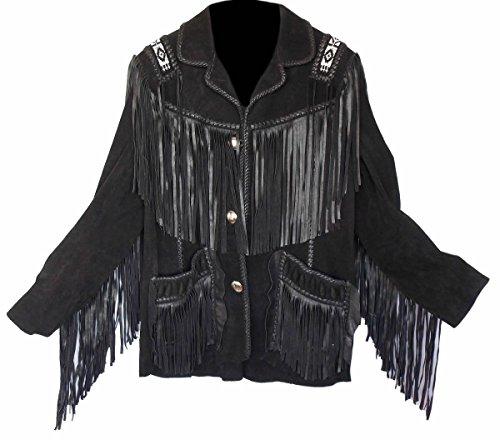 Sleekhides Men's Western Cowboy Fringed  - Beaded Suede Jacket Shopping Results