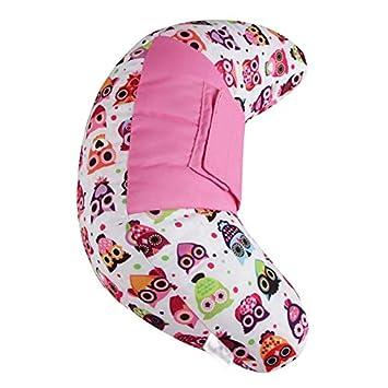 Emorias 1/PCS Oreiller de Col Ceinture de s/écurit/é Portable Voiture Coussin Support de Cervical Enfants et Adultes Voyages Accessoires 11 11 35cm Rose