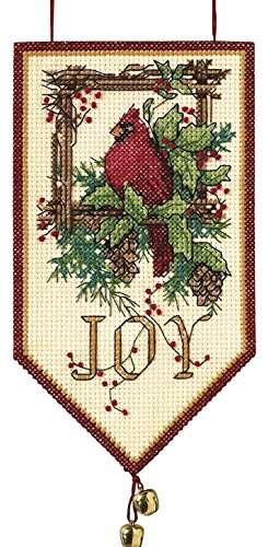 Christmas Needlepoint Stocking Mini (Dimensions Needlecrafts 8822 Counted Cross Stitch, Cardinal Joy Mini Banner)
