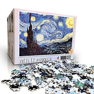 Mekiyo 1000 Pieces Puzzles for Adults Decompression Large Jigsaw Game Art Oil Painting Jigsaw Landscape Painting Landscape Castle for Teens Kids Birthday (Love Tree, 7550CM): Garden & Outdoor