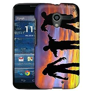 Motorola Moto X Case, Slim Fit Snap On Cover by Trek Zombie Sunrise Case