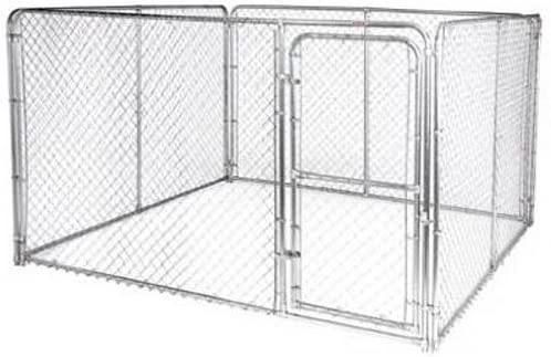 Amazon Com Stephens Pipe Steel Dks11010 Silver 10 X 10 X 6 Dog Kennel Pet Kennels Pet Supplies