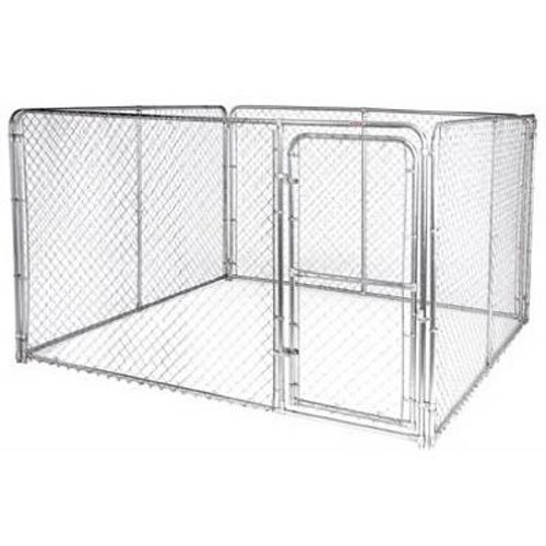 Stephens Pipe & Steel DKS11010 Silver 10 x 10 x 6 Dog Kennel ()