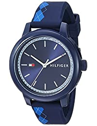 Tommy Hilfiger Women's 'Everyday Sport' Quartz Resin and Silicone Casual Watch, Color:Blue (Model: 1781814)