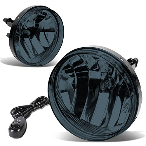 For GMC Sierra Pair of Bumper Driving Fog Lights + Wiring Kit + Switch (Smoked Lens)