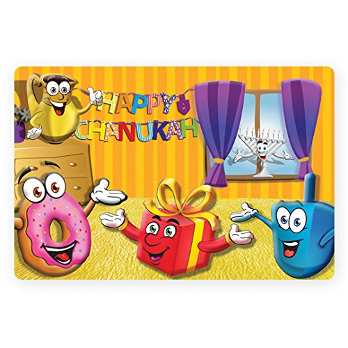 Chanukah PVC Placemats set of 4 Chanukah Placemats for a colourful table
