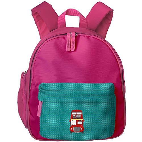Double Decker Bus Child Casual Travel Backpacks Bags
