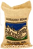 Garbanzo Beans aka Chickpeas or Ceci Beans | Non-GMO Project Verified | 100% Non-Irradiated | Certified Kosher Parve | USA Grown | Field Traced (5 LB Burlap Bag)