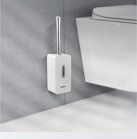 Inodoro WC con Baño con Aspirador creativo para cepillo de inodoro conjunto duradero Montaje en pared limpio Cepillo de inodoro WC para el baño Almacenamiento y organizador: Amazon.es: Hogar