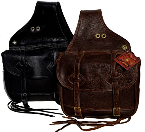 Olde Time Saddle Bags (Black with Brass)