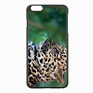iPhone 6 Plus Black Hardshell Case 5.5inch - leopard cub spotted big cat Desin Images Protector Back Cover