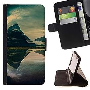 Momo Phone Case / Flip Funda de Cuero Case Cover - Mountain Mist Lago;;;;;;;; - Sony Xperia Z1 Compact D5503