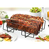 """Artestia 11.5"""" or 14"""" BBQ Grill Non-Stick Rib Rack, fits spare rib / back rib from costco / whole foods perfectly (14-inch width)"""