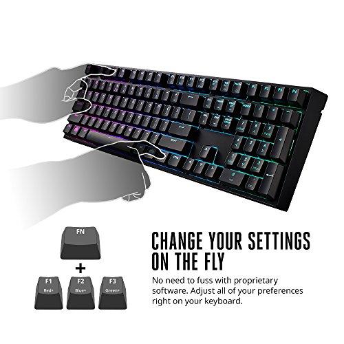 Cooler Master Keys Pro L RGB Mechanical Gaming Keyboard, Cherry MX Blue, RGB LED, Full Size (Large)
