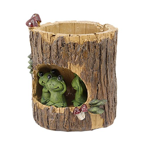 Segreto Cute Animal Plants Pots Planter for Small Sedum Succulent Plants Desk Garden Room Pot Decor,Green Frog