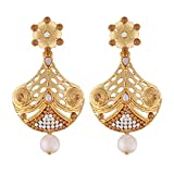 I Jewels Gold Plated Earrings For Women E2344LW (Gold)