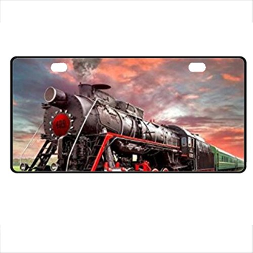 (Train Steam Engine Doormat Design Novelty Vanity License Plate Tag Sign Starfactr)