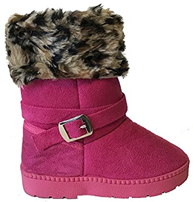 Amazon.com | Fourever Funky Super Furry Leopard Girls Muggs Vegan ...