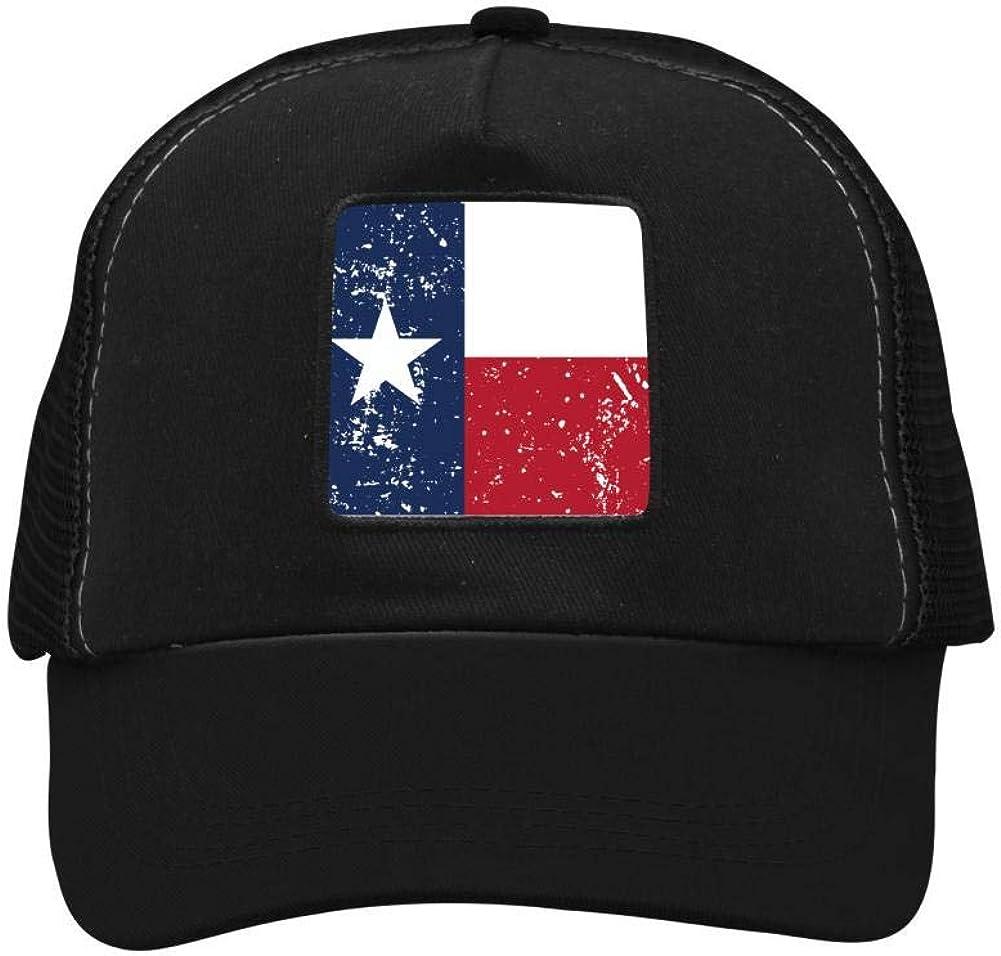 Texas Flag Mesh Caps Adjustable Unisex Snapback Trucker Cap
