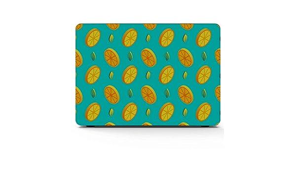 MacBook Accessories Case Summer Sour Retro Cute Fruit Lemon Plastic Hard Shell Compatible Mac Air 11 Pro 13 15 MacBook Pro Accessories Protection for MacBook 2016-2019 Version