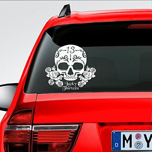 MountainValleyClimber Lucky Sugar SKULL Vinyl Car Window Die Cut Decal for Car Truck - Window Inch Die 10 Cut Film