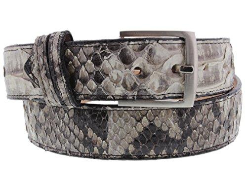El Presidente - All Genuine { Natural} Snake Skin Exotic Belt Silver Buckle (Exotic Skin Belts)