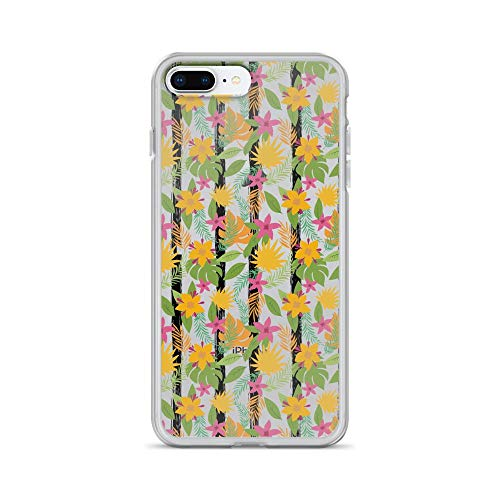 iPhone 7 Plus/8 Plus Pure Clear Case Cases Cover Lovely Flower Hand Drawn Seamless Pattern