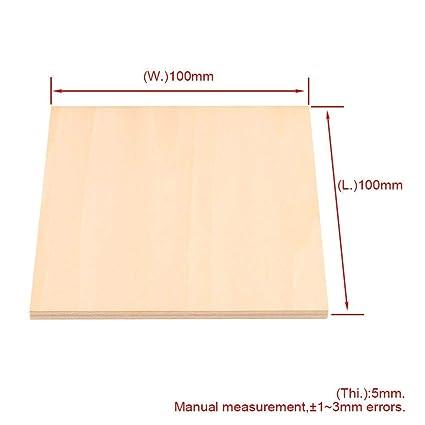 Terrific Amazon Com Craft Wood 10Pcs 100X100Mm Thickness 5Mm Ibusinesslaw Wood Chair Design Ideas Ibusinesslaworg