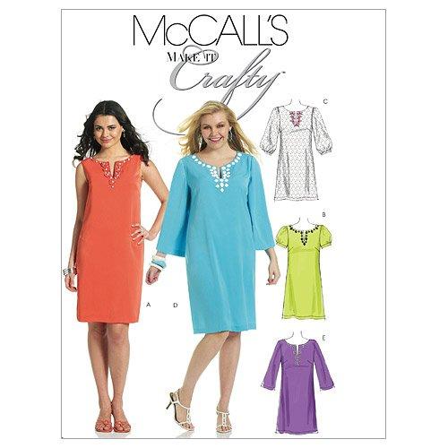 Pullover Dress Sewing Pattern (McCall's Patterns M6117 Misses'/Miss Petite/Women's/Women's Petite Dresses, Size B5)