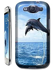 Couple dolphins jump out and down the sea beautiful cell phone cases for Samsung Galaxy S3