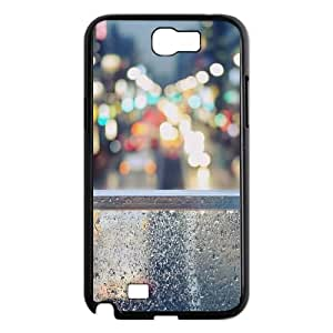 Tokyo Street Lights Bokeh Samsung Galaxy N2 7100 Cell Phone Case Black&Phone Accessory STC_956636
