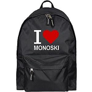 Rucksack Classic I Love Monoski schwarz