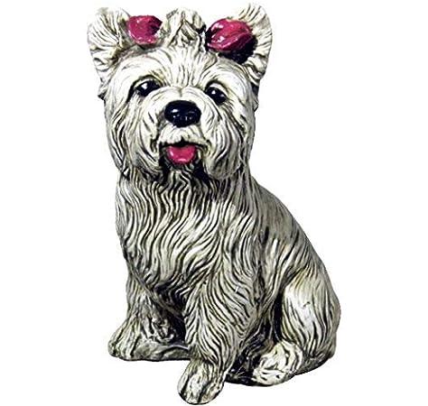 DEGARDEN Figura de Perro Yorkshire Decorativa para Jardín o ...