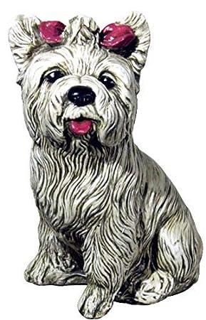 Degarden Figura De Perro Yorkshire Decorativa Para Jardin O Exterior