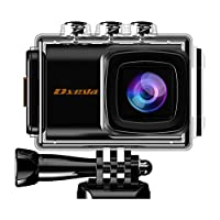 Action Camera, Dveda 16MP 4K Ultra HD WiFi Waterproof Sports Action Camera 170 Degree Wide-Angle Lens with 2Pcs Rechargeable Battery, Full Accessories Kits and Carrying Case Included
