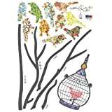(20x28) Birds in Tree Repositional Wall Decal