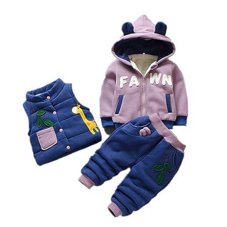 0-4 años del bebé del invierno Conjunto chándales, ropa del ...