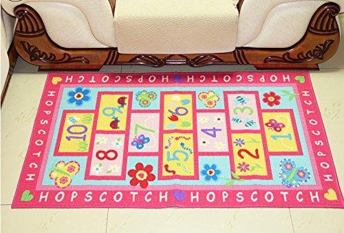 huahoo pink rug girls pink kids rugchildrens rugs baby nursery rugskids rugs carpet girls. Black Bedroom Furniture Sets. Home Design Ideas