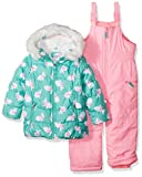 Carter's Little Girls' 2-Piece Heavyweight Printed Snowsuit, Turquoise Bunny, 5/6