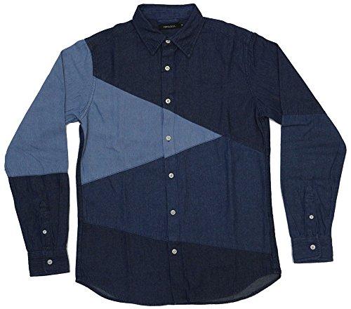 賛美歌日の出漏斗VINTAGE EL (ヴィンテージイーエル) デニムブロッキングシャツ 77206