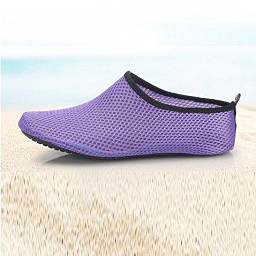 Deesee (tm) Mannen Vrouwen Outdoor Watersport Duiken Yoga Sokken Strandschoenen Treadmil Schoenen Paars