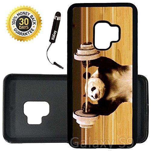 Amazoncom Custom Galaxy S9 Case Panda Lifting Weights Edge To