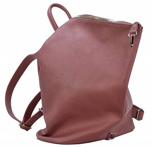 BZNA Bag Mara Altrosa Rosa Backpacker Designer Ryggsäck Läderväska Damhandväska Axelväska Läder ItalyNy