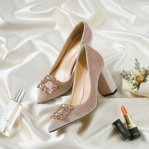 HUAIHAIZ damen plateau pumpsFrühjahr einzelne Schuhe Rosa High Heels Etikette Hochzeit Hochzeit Etikette Schuhe Begleiter lady Schuhe 34c5c6