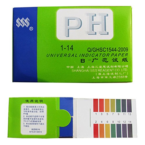 [Simply Universal Indicator 1-14 pH Test Strips Paper for Body Water Soil Food] (Water Meter Costume)